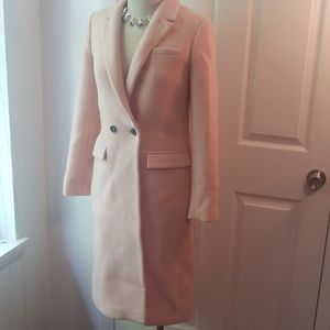 Lovely blush pink Banana Republic long winter coat